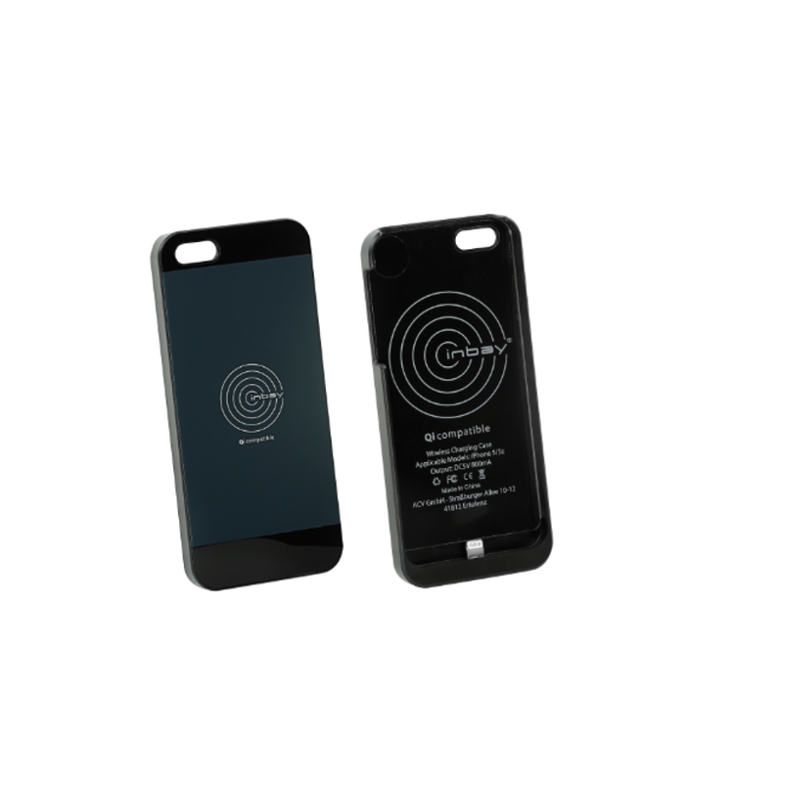 iPhone 5/5S Wireless Charger Hülle, schwarz - AC242002