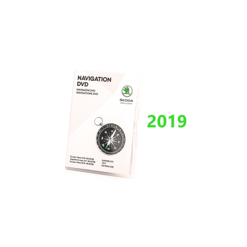 SKODA Navigations DVD - Europa West - Version 2019 - 3T0051859AT