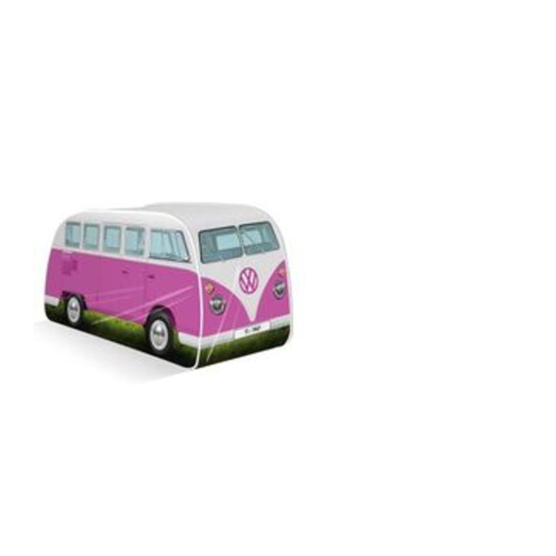 VW Bulli T1 Kinder Pop Up Spielzelt, pink - KUKOL0180PK