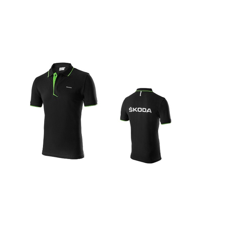SKODA Herren Polo-Shirt Events Gr. M, schwarz - 000084230AH041